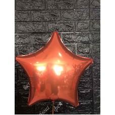 Фольга зірка оранжева