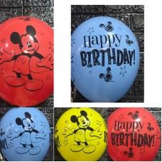 "Гелієві кульки  "" Happy Birthday ! Mickey Mouse"""
