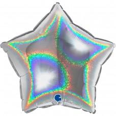 Фольга зірка голограма срібло