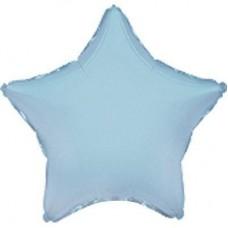 Фольга зірка голуба