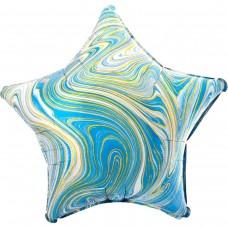Фольга зірка агат голубий