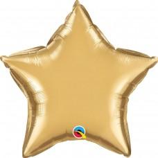 Фольга зірка золото хром