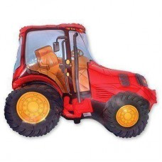 Фігурна кулька   Трактор червоний