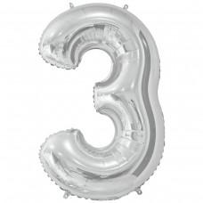 Фольгована цифра 3 - 66 см