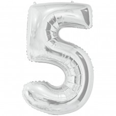 Фольгована цифра 5 - 66 см