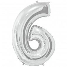 Фольгована цифра 6 - 66 см