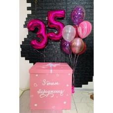 Коробка-сюрприз для коханої на 35 років