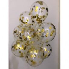 """Букет з 10 кульок  """"Конфеті золото"""""""