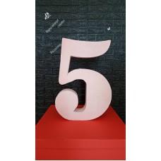 Об'ємна глітерна цифра п'ять на прокат