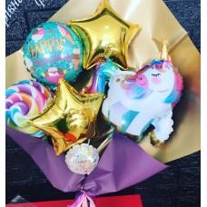 Букети зібрані з кульок Єдиноріг