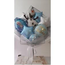 Букети зібрані з кульок Холодне Серце Анна і Ельза