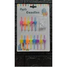 Набір свічок Happy Bithday з підставками 6,5 см